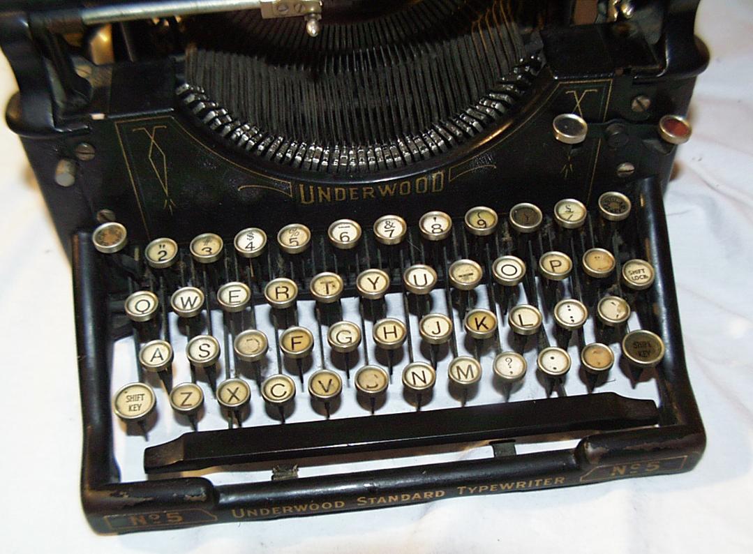 typewriter red platypus