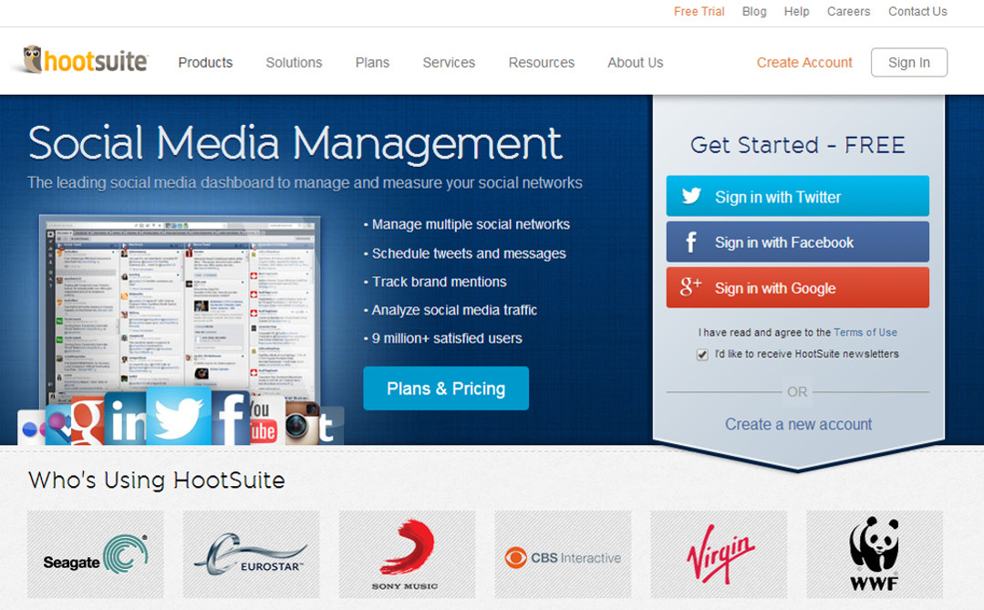 Hootsuite screen grab Red Platypus