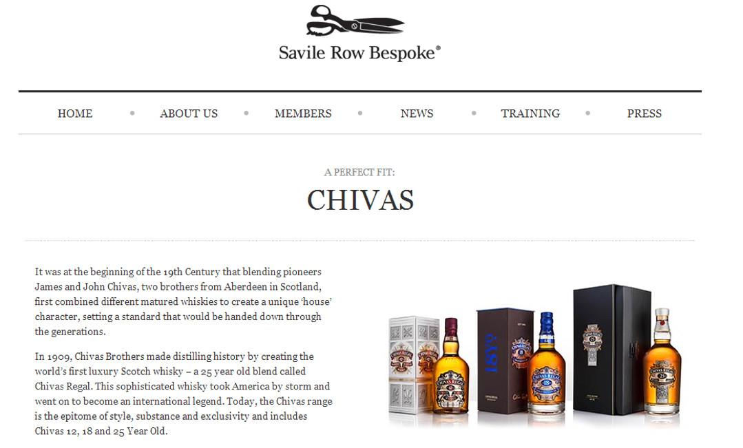 Savile Row and Chivas Whisky partnership Red Platypus