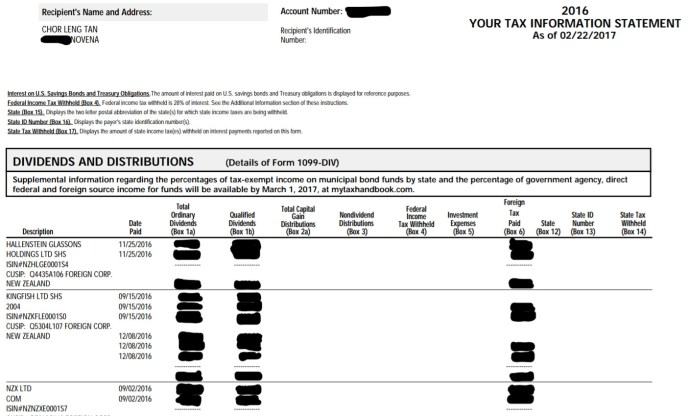 Peter's tax information statement