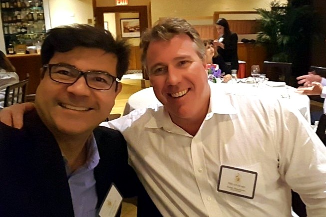 Peter CL Tan with Porter Stansberry in New York, 2017