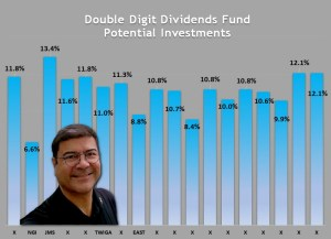 18 potential investments for the launch of our Double Digit Dividends Fund