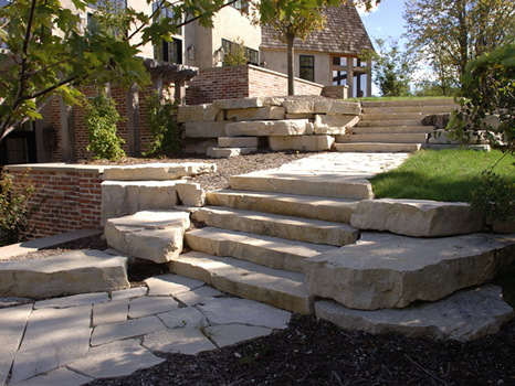 natural stone - double lawnscaping