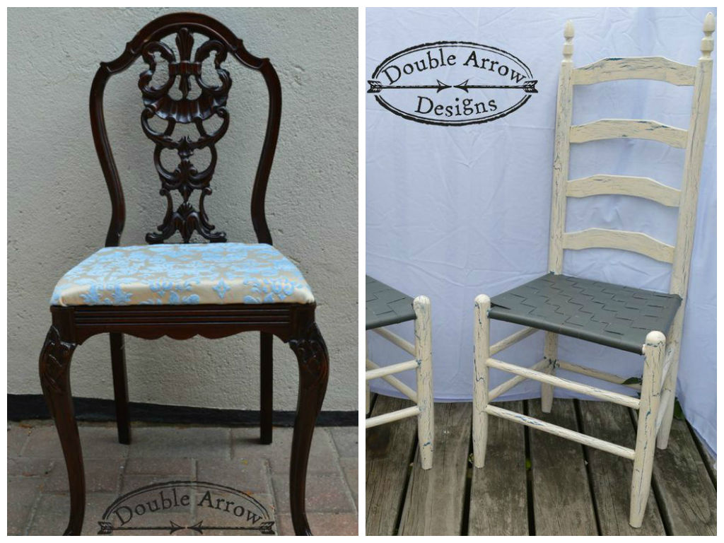 wicker ladder back chairs kartell masters chair and boudoir double arrow designs