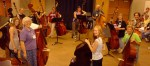 Virginia Dixon works with young bassists at UW-Stevens Point