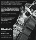 Bass Openings at Idyllwild Arts Academy for 2009-10