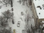 Thundersnow and stranded cars