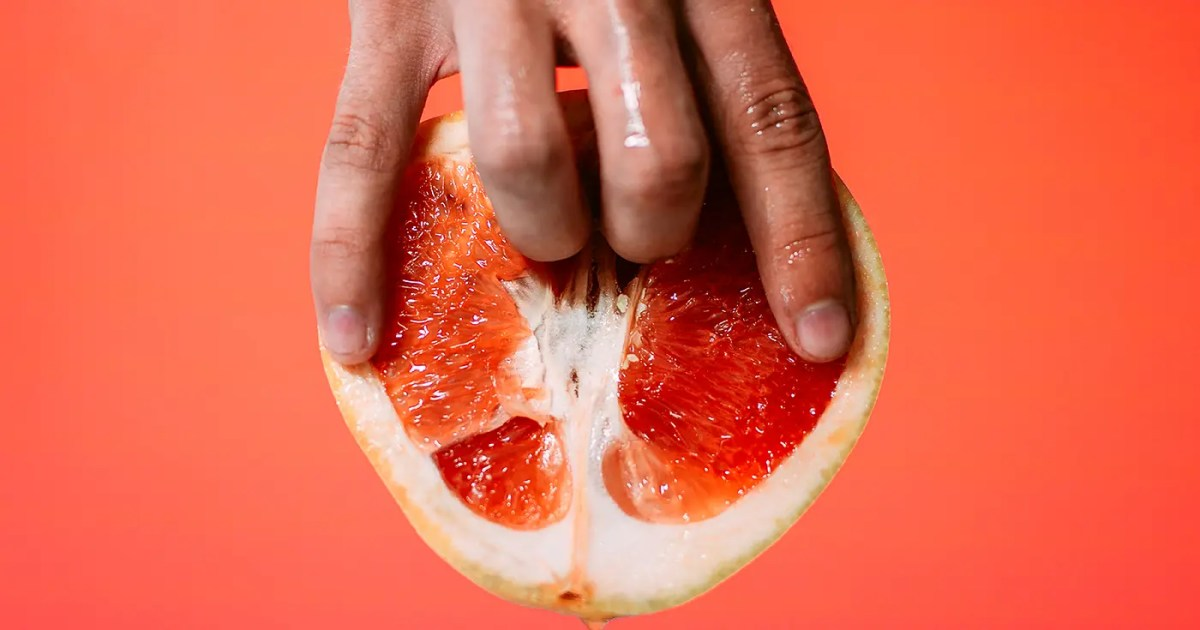 Doubleblind: a hand fingering a grapefruit. In this Article, Doubleblind examines if sex on mdma ruins sober sex.