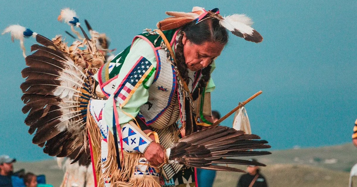 DoubleBlind: Lakota Native American man at pow wow. In this article, DoubleBlind discussed Chacruna's Psychedelic Liberty Summit.