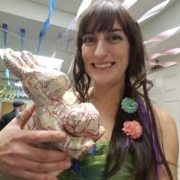 Jessica and her bunny for Best Valentine