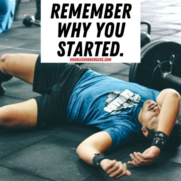 weight loss motivation quotes, weight loss motivation quote, guy exhausted on the floor.