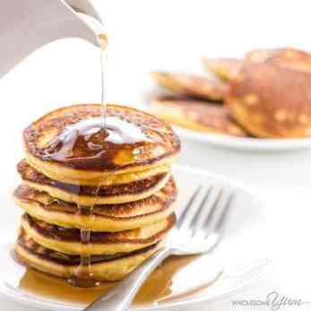 A healthy breakfast is the most important meal of the day. Check out these 6 healthy almond flour keto pancake recipes. These keto pancakes are perfect if you are on a low carb high fat diet. Never skip breakfast again with these healthy almond flour keto pancakes recipes. #ketopancakes #almondflour