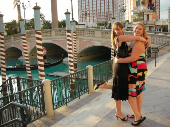 Me and my bestie Katelyn in fake Italy, aka, the Bellagio, in Vegas