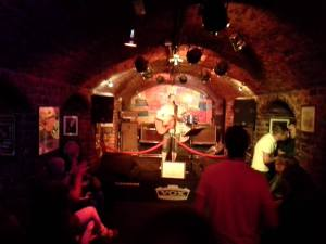 The inside of The Cavern in Liverpool, England where the Beatle's first played together