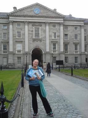 My thighs looking much firmer outside Trinity College in Dublin, Ireland.