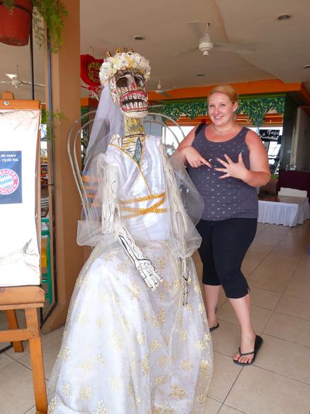 Dia de Los Muertos bride and Alyssa!