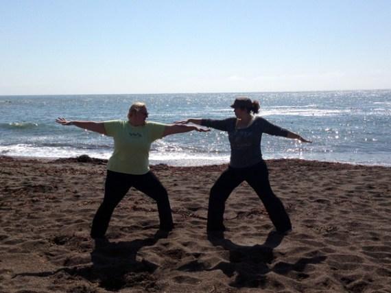 Warrior Girls aren't afraid of a little sand in their clothes!