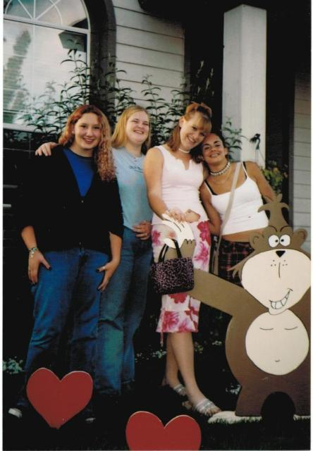 Me on the far left. I was so skinny!
