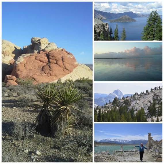 Red Rock Canyon - 11 miles... Crater Lake - 3 miles... Alemeda Beach - 1 mile morning walk... Yosemite - 4 miles.... Mono Lake - 2 miles...