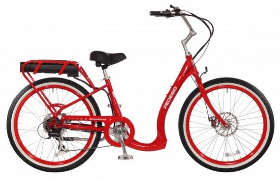 Boomerang from Pedego.com, with easy step-through access.