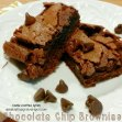 Chocolate Chip Brownies - Double Knotted Apron
