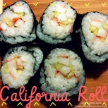Simple Homemade California Roll - Double Knotted Apron