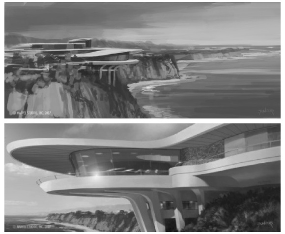 Stark Modernism Tony Starks Malibu Home From Iron Man
