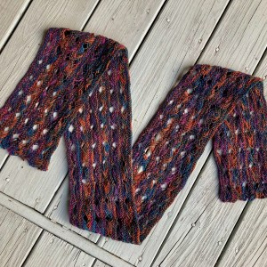 Knitted Cross Stitch Scarf CSS0100 01