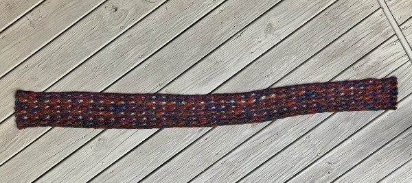 Knitted Cross Stitch Scarf CSS0100 02