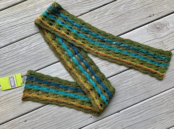 Knitted Cross Stitch Scarf CSS0180 01