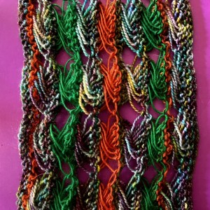 Knitted Cross Stitch Scarf CSS0380 03