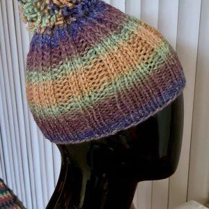 Pom Pom Hat Acrylic Wool Blend - PH0050 01