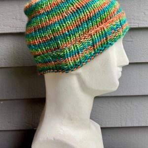Colorful Hat - Aqua Orange and Green Large 01