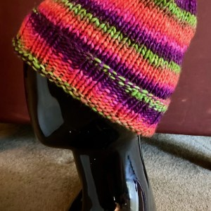 Colorful Hat - Purple Orange Green and Pink Med 01