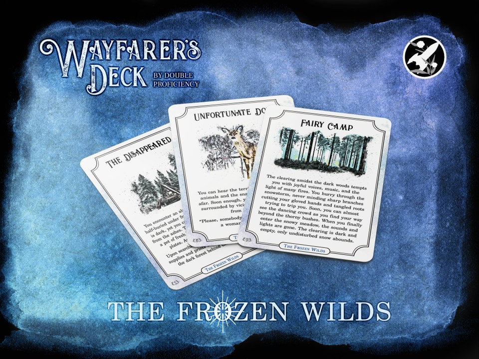 Three cards from the Wayfarer's Deck: The Frozen Wilds