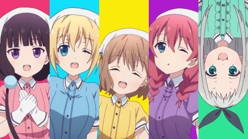 Maika, Kaho, Mafuyu, Miu, and Hideri from the anime Blend S