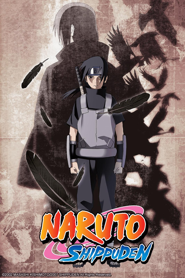 Naruto: Shippuden anime cover art featuring Itachi Uchiha