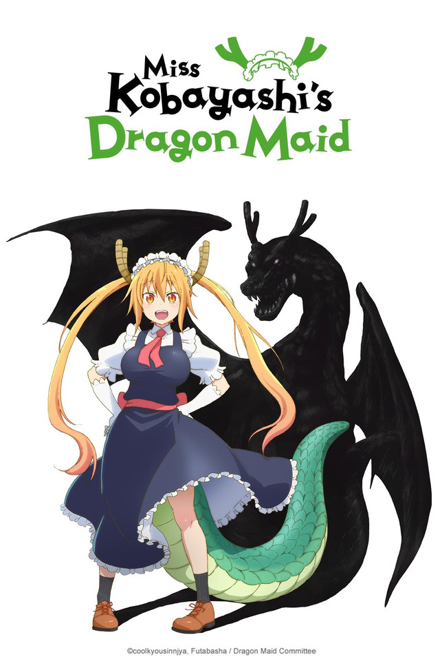Miss Kobayashi's Dragon Maid Cover Art featuring Tohru