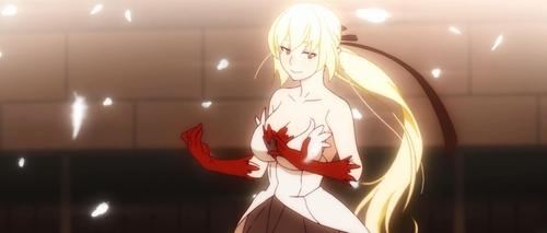 Kiss-Shot Acerola-Orion Heart-Under-Blade (Shinobu Oshino) from the anime movie trilogy Kizumonogatari