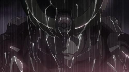 The combined Gurren Lagann from the anime Gurren Lagann