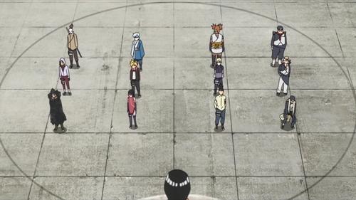 Chunin Exam stage three competitors from the anime series Boruto: Naruto Next Generations