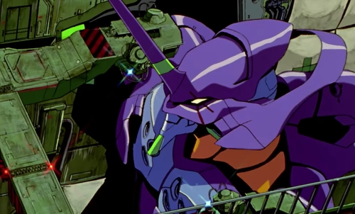 Eva Unit 01 from the anime Neon Genesis Evangelion