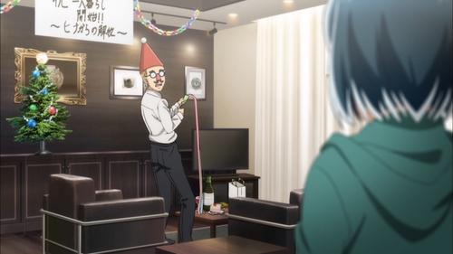 Hina catches Nitta celebrating that she's leaving (from the anime Hinamatsuri)
