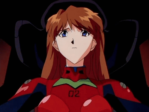 Asuka Langley Souryuu from the anime Neon Genesis Evangelion