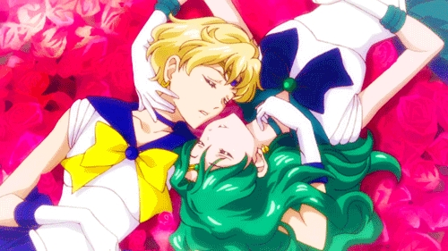 Sailor Moon Crystal season 3 anime ending 1 animation featuring Uranus and Neptune