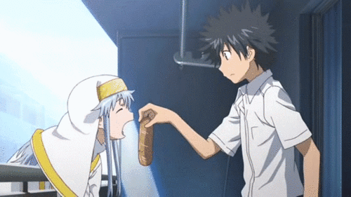 Kamijō and Index from the anime A Certain Magical Index