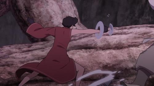 Fourth Tsuchikage Kurotsuchi vs. Kinshiki Otsutsuki from the anime Boruto: Naruto Next Generations