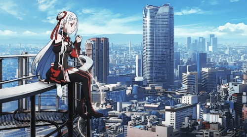 AI Idol Yuna from the anime movie Sword Art Online -Ordinal Scale-