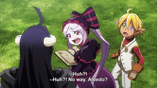 Albedo, Shalltear, and Aura Bella from the anime Overlord III