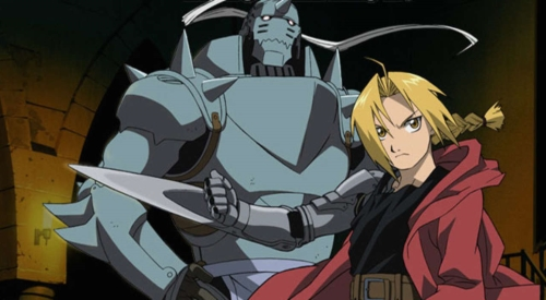 "Edward ""Ed"" and Alphonse ""Al"" Elric from the anime Fullmetal Alchemist"